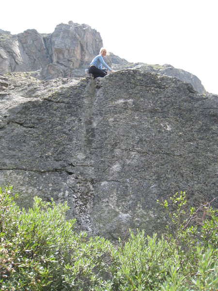 """Rock Climbing Photo: Kate after topping out """"Last of the Ohitians&..."""