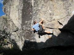Rock Climbing Photo: Getting started up Black Streak.