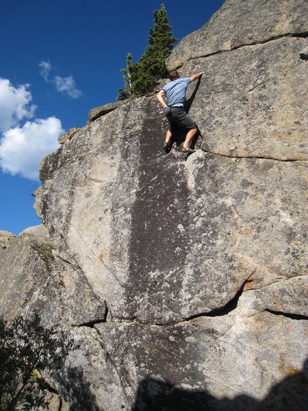 Rock Climbing Photo: Almost there...above the difficulties on Black Str...