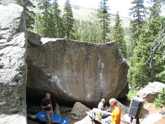 Rock Climbing Photo: The Seurat Boulder on a busy weekend afternoon.  T...