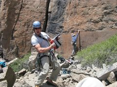 Rock Climbing Photo: This is how we put up the route