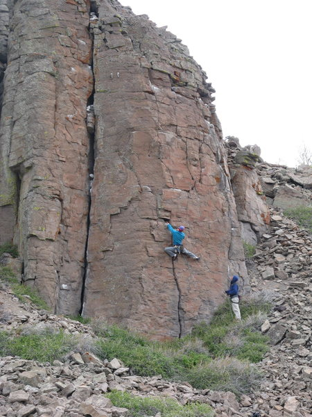 Rock Climbing Photo: A slightly exaggerated, but pleasing move to start...