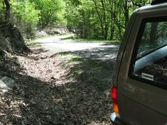 Rock Climbing Photo: Parking at the pull-off on Nebo Mountain