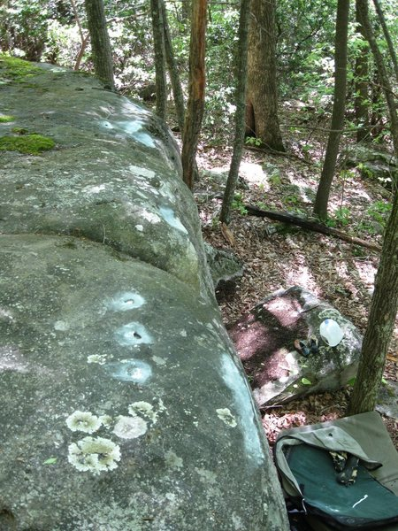Rock Climbing Photo: The top out on the warm up boulder