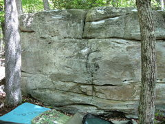 "Rock Climbing Photo: the warm up boulder, showing ""Dial Zero"""