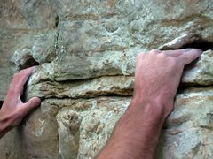 Rock Climbing Photo: the start hands at the sit, on DZR