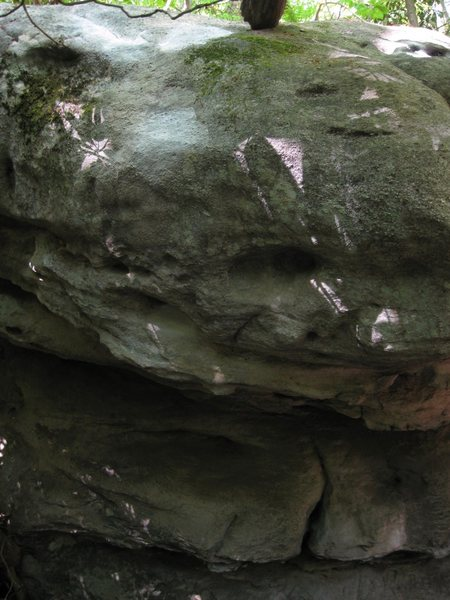 """A shot of """"Grindstone"""", blacklist boulder, Nebo Mountain."""