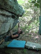 "Rock Climbing Photo: Steve on the first few moves of ""terrapin top..."