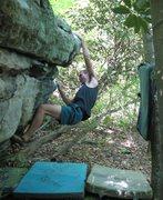 "Rock Climbing Photo: Steve hitting the ""turtle shell"" sloper ..."
