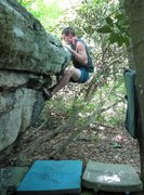 """Rock Climbing Photo: The difficulty starts here on """"terrapin top o..."""
