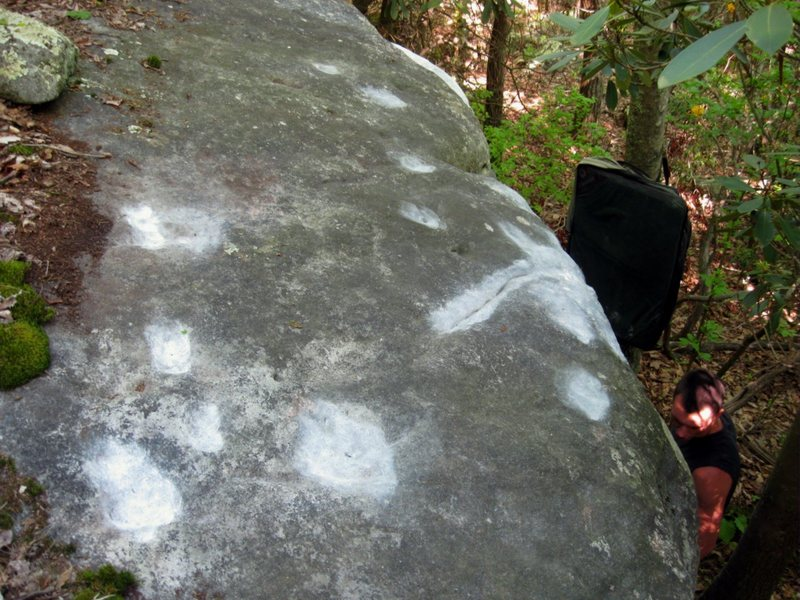 Rock Climbing Photo: The top of the spring boulder