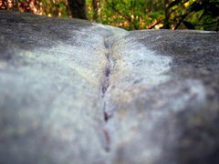 "Rock Climbing Photo: The top out seam used on ""Seam-Stress"" (..."