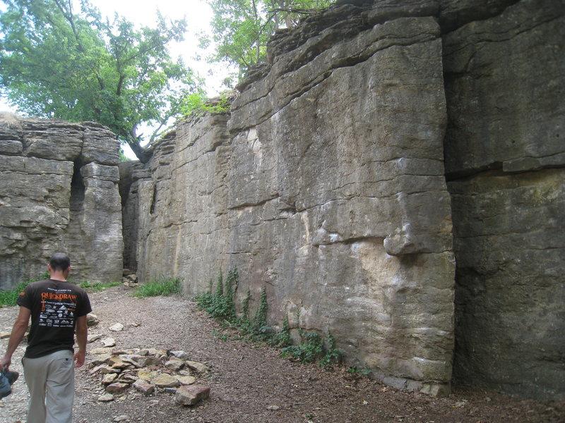 Rock Climbing Photo: Disease Wall