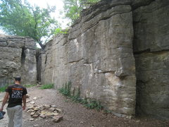 Rock Climbing Photo: Disease Wall