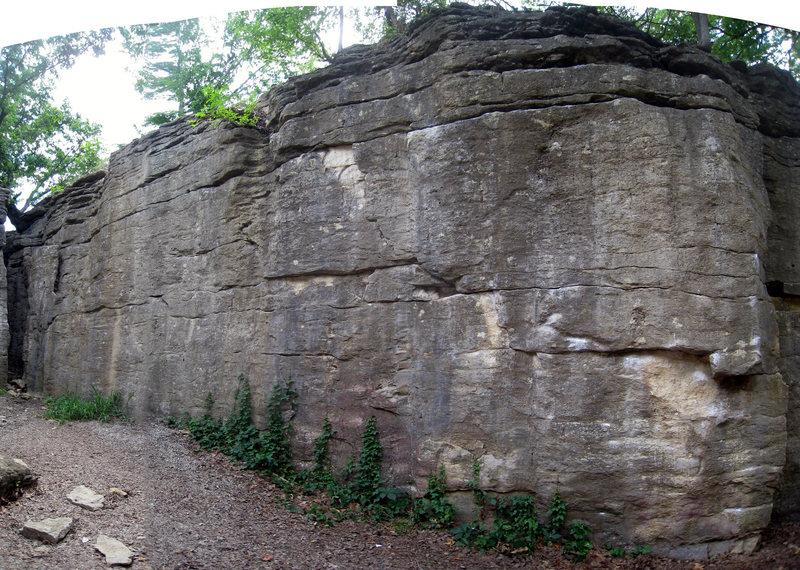 Rock Climbing Photo: Disease wall, pan-o-rama!