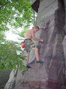 Rock Climbing Photo: Vinny in the crux.