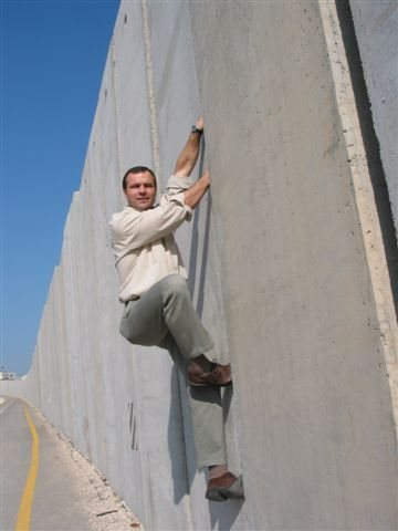 Splitter Jams on the Israel/Palestine Security Wall.