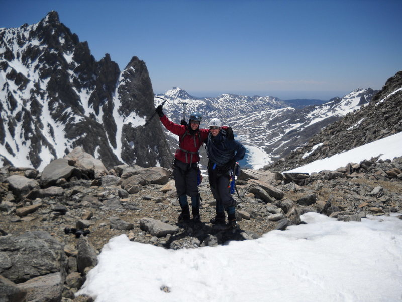 Rock Climbing Photo: Happy to be on top of the pass for the second time...