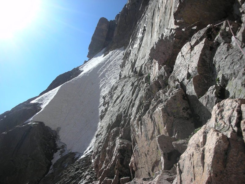 Rock Climbing Photo: Traversing to Pervertical Sanctuary.
