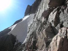 Rock Climbing Photo: Traversing to Pervertical Sanctuary.