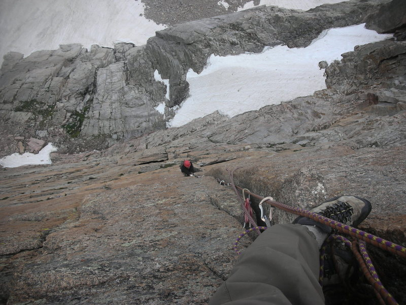 Following the crux pitch on PVS.
