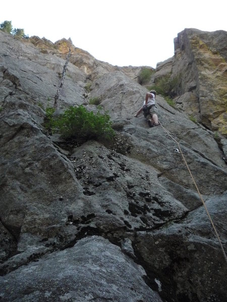 Rock Climbing Photo: Getting ready for the Arete.