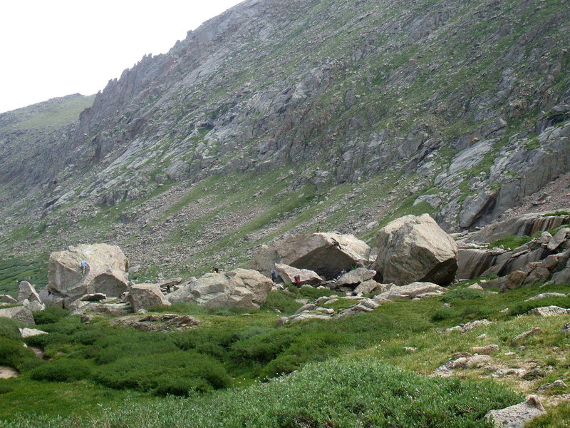Hiking down to the upper area of Chicago Basin from Summit Lake.