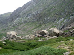 Rock Climbing Photo: Hiking down to the upper area of Chicago Basin fro...