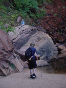 Rock Climbing Photo: Truman and Ethan in Zion National Park, October 20...