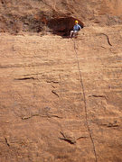 Rock Climbing Photo: Ethan at the top of P1 of Kindred Spirits, October...