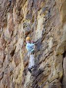 Rock Climbing Photo: Ethan on Whatever Happens...Happens (aka. Watermel...