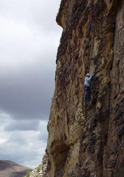 Rock Climbing Photo: Gwen on Whatever Happens...Happens (aka. Watermelo...