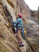 Rock Climbing Photo: Starting up Whatever Happens...Happens (aka. Water...
