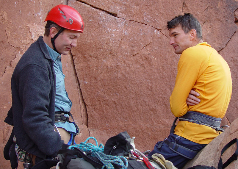 Rock Climbing Photo: With Lee Jensen at the base of Supercrack of the D...