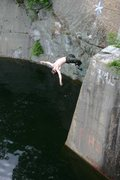 Rock Climbing Photo: The best part of topping out is jumping off... jak...