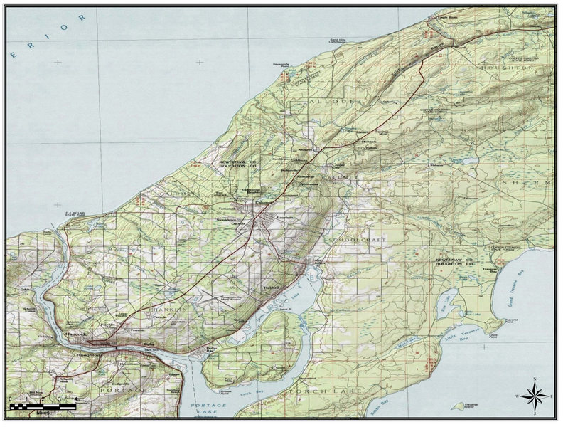 Cliff Dr. - Keweenaw County - Topo