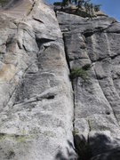 Rock Climbing Photo: Sticks and Stones is the main crack in the center ...