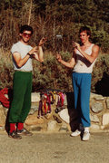 Rock Climbing Photo: Owen and Savage, and the levitating nut - Punchbow...