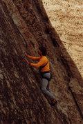 Rock Climbing Photo: Mark Goss leads Velcro mid 80's (c) Chris Savage