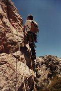 Rock Climbing Photo: Chris Owen on the Freezer Burn Wall long before it...