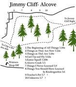 Rock Climbing Photo: The Alcove area at Jimmy Cliff... So far im not su...