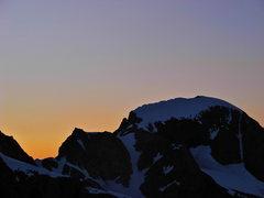 Rock Climbing Photo: Gannett sunset.
