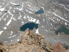Rock Climbing Photo: The final 2nd class section to the summit. Photo t...