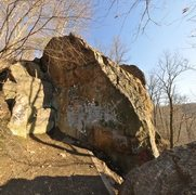 Rock Climbing Photo: Begins on the small block to the left of the graff...