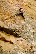Rock Climbing Photo: Lonnie Kauk navigating his way through Wicked Bend...