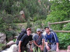 Rock Climbing Photo: Mike, Dustin & Levi recording the 1st half of the ...