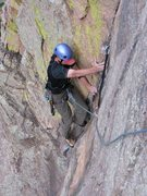 Rock Climbing Photo: Mike on first pitch of Calypso
