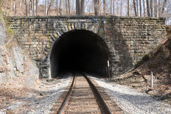 Rock Climbing Photo: The Union Dam Tunnel.  A common occurrence while c...