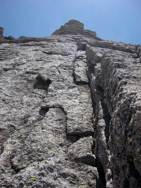 Rock Climbing Photo: This is the long left-facing dihedral system that ...