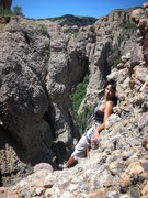 Rock Climbing Photo: Top of route by anchor